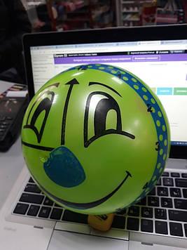 Мячик для детей зеленый с рисунком