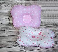 Подушка ортопедическая для новорожденного бабочка хлопок Польша