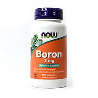 Витамины и минералы NOW Boron 3 mg, 100 капсул