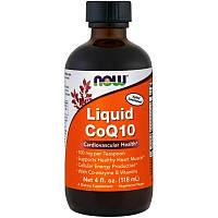 Витамины и минералы NOW CoQ-10 Liquid, 118 мл