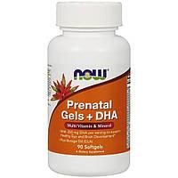 Витамины и минералы NOW Prenatal Gels with DHA, 90 капсул