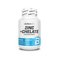 Витамины и минералы BioTech Zinc + Chelate, 60 таблеток