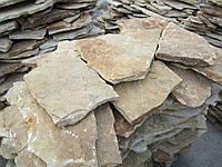 Песчаник природный желто коричневый на поддонах, купить Киев