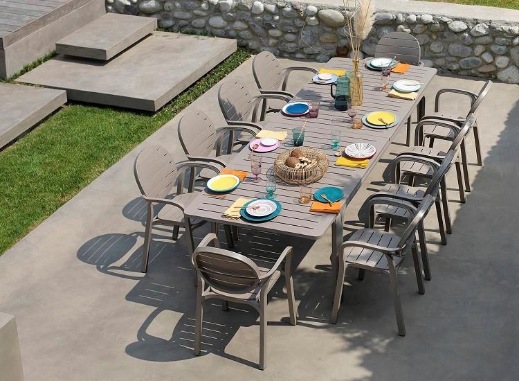 Комплект  Стіл  Alloro  210 -280 см + 10 крісел Palma