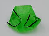 Захисна маска для обличчя упаковка 5шт. одноразова 3-х шарова з матеріалу спанбонд колір - зелений, фото 2