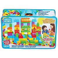 Детский Игровой Развивающий Конструктор Давайте учиться! 150 больших деталей-блоков Mega Bloks Best Buy