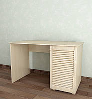 Стол письменный с жалюзийными дверями из дерева Тавол Сиеко СТ1Т 1200х600х750 Молочный