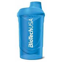 Шейкер BioTech Wave, 600 мл, голубой