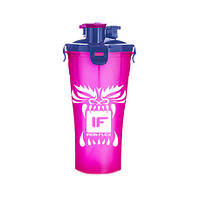 Шейкер IronFlex Hydra Cup Drakon 828 мл, розовый