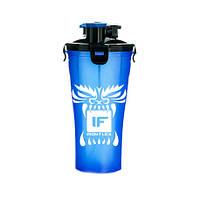 Шейкер IronFlex Hydra Cup Drakon 828 мл, синий