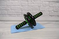 Фитнес колесо для пресса Double wheel Abs health abdomen round (WM-27) (домашний тренажер-колесо для пресса), фото 4