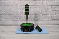 Фитнес колесо для пресса Double wheel Abs health abdomen round (WM-27) (домашний тренажер-колесо для пресса), фото 3