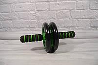 Фитнес колесо для пресса Double wheel Abs health abdomen round (WM-27) (домашний тренажер-колесо для пресса), фото 6