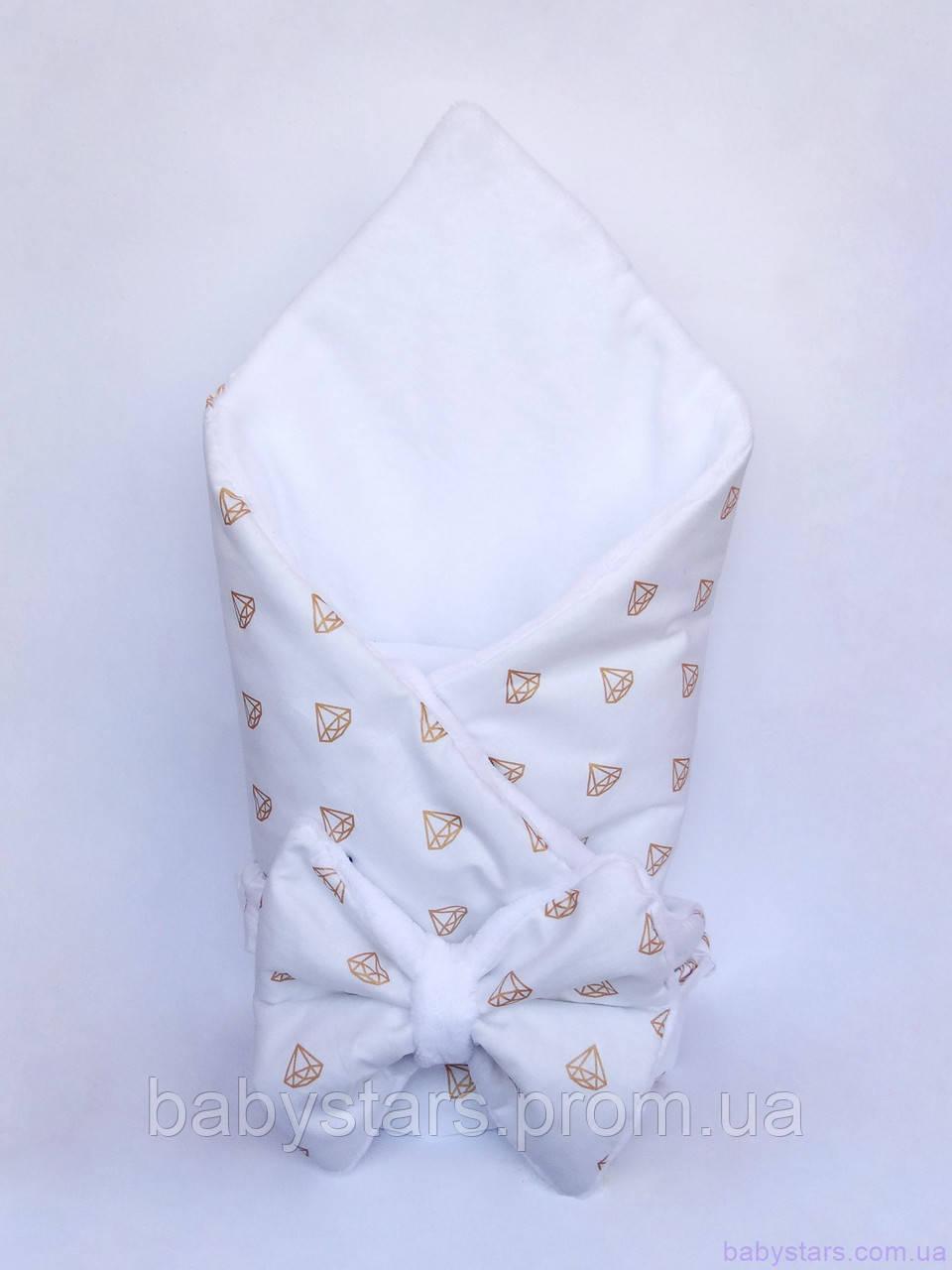 """Конверт-одеяло «Бриллианты"""" 75*85 см"""
