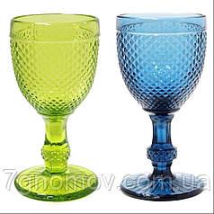 Набор 6 бокалов для вина из цветного стекла Bailey Emili 150 мл