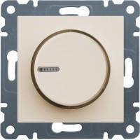 Светорегулятор поворотный Hager Lumina 2 Кремовый (WL4011), фото 1