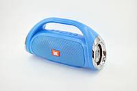 Портативная колонка JBL (Copy)  BOOMBOX Mini (К836)(bluetooth, metal, FM, USB, 2 динамика, с ручкой) blue