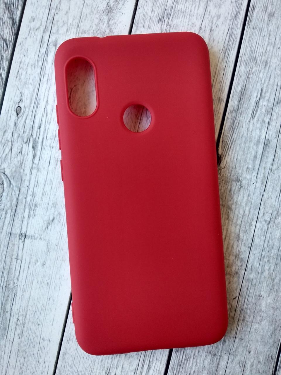 Чехол Xiaomi Mi 8 Lite Silicone Smitt red
