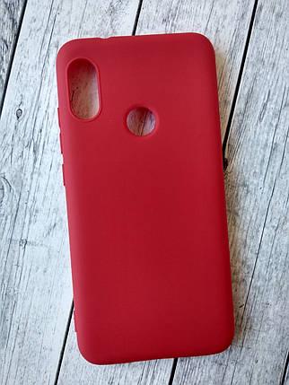 Чехол Xiaomi Mi 8 Lite Silicone Smitt red, фото 2