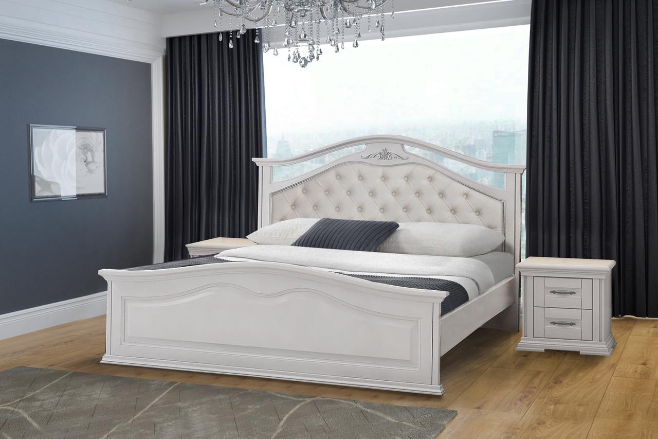 Спальня Маргарита белая массив ольхи Микс мебель