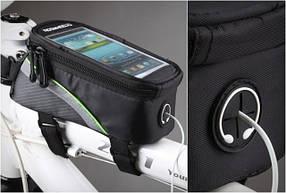 Велосумка для смартфона на раму Roswheel G-5 размер M (+3,5мм удлинитель)