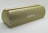 Портативная колонка AT-7735 (Bluetooth+USB+FM+держатель для телефона+Soft Touch) gold