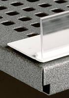Фронтальный ограничитель для всех видов полок, кроме проволочных, длина 1250 мм