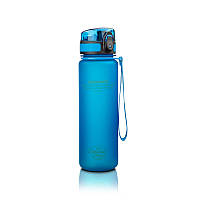 Бутылка UZspace Colorful Frosted 500 мл, голубая - 3026