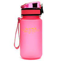 Бутылка UZspace Colorful Frosted 350 мл, розовая - 3034