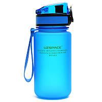 Бутылка UZspace Colorful Frosted 350 мл, голубая - 3034