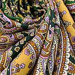 Восточная принцесса 1908-9, павлопосадский платок шерстяной  с оверлоком, фото 5