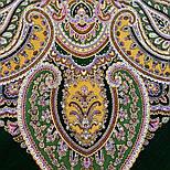 Восточная принцесса 1908-9, павлопосадский платок шерстяной  с оверлоком, фото 6
