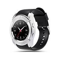 Смарт часы Smart Watch V8 (Bluetooth 3.0, камера, 280 mah, MTK 626, 32m, 3mpx) black/silver