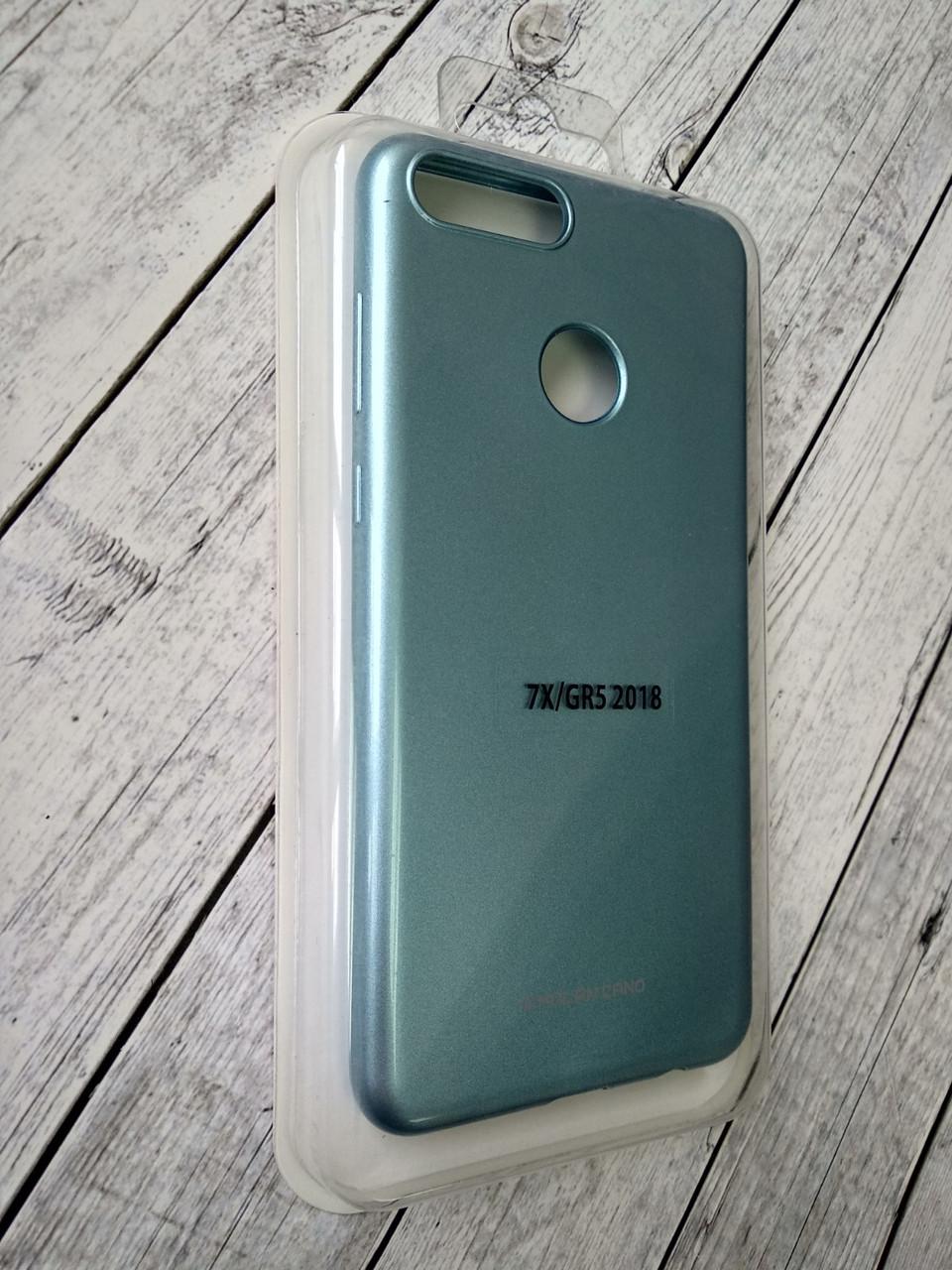 Чехол Huawei Honor 7X Silicone Molan Cano Glossy Jelly blue