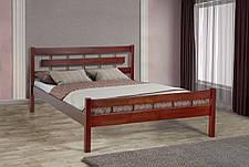 Кровать  двуспальная деревянная  Альмерия 160*200  Микс мебель,  цвет орех / каштан, фото 3