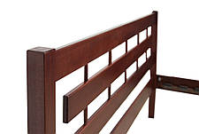 Кровать  двуспальная деревянная  Альмерия 160*200  Микс мебель,  цвет орех / каштан, фото 2