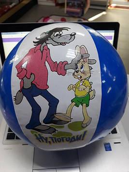 Мячик для детей надувной с колокольчиком внутри разные герои