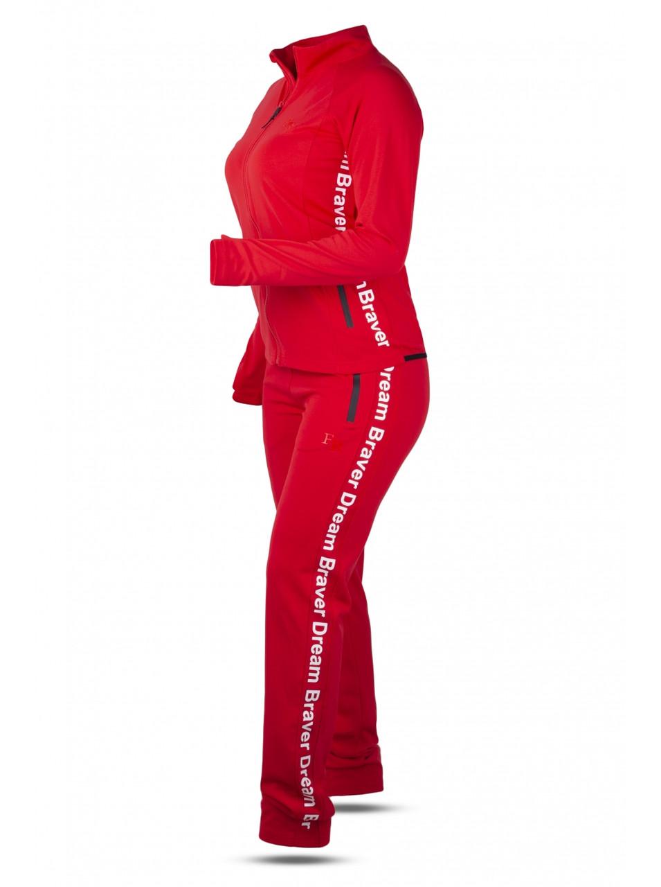 Костюм спортивный женский красный FREEVER GF 5708 червоний