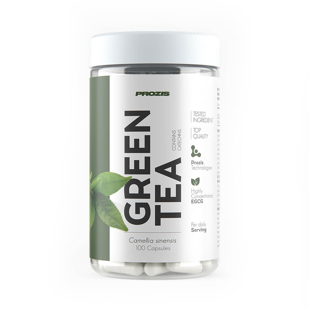 Натуральная добавка Prozis Green Tea EGCG 200 mg, 100 капсул