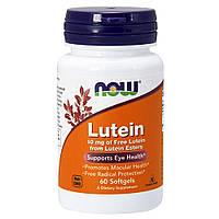 Натуральная добавка NOW Lutein 10 mg, 60 капсул