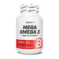 Жирные кислоты BioTech Mega Omega 3, 90 капсул