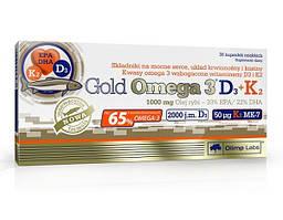 Жирные кислоты Olimp Gold Omega 3 D3+K2, 30 капсул