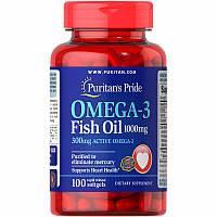 Жирные кислоты Puritan's Pride Omega 3, 100 капсул
