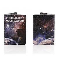 Кожаная обложка на паспорт Галактика