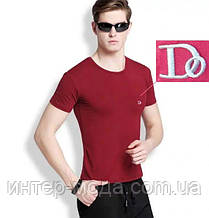 "Мужская футболка 100% Хлопок Марка ""DOOMILAI"" Арт.1833(бордовый)"
