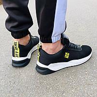 Мужские кроссовки в стиле OFF-WHITE черные, фото 1