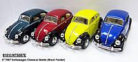 "Модель легкова ""KINSMART"" 5"" KT5057WE Volkswagen Classical Beetle (Black Fender) метал.инерц.об'явл.дв.кор./96/"