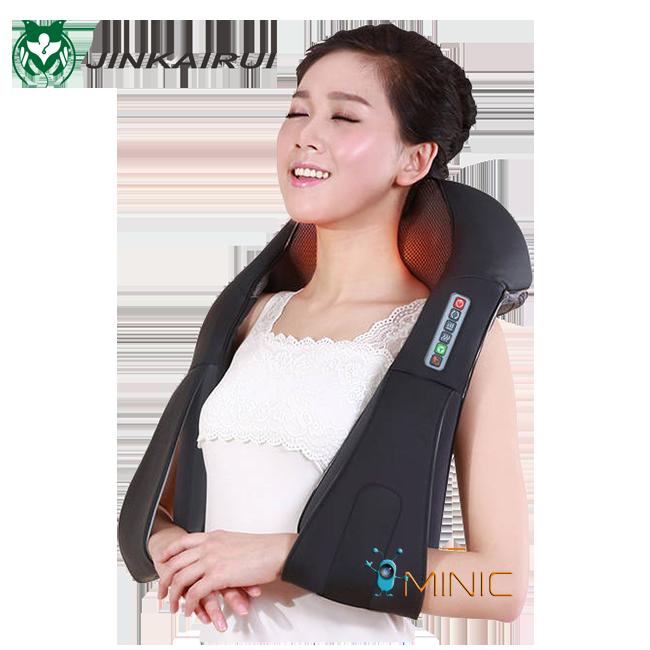 Электрический массажер Шиацу для спины, шеи, тела JinKaiRui K9 с прогревом