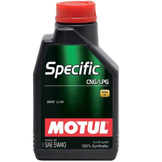 Масло моторное 100% синтетическое д/авто MOTUL Specific CNG/LPG SAE 5W40 1л. 101717/854011