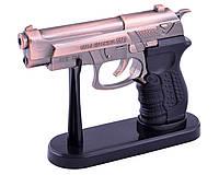 Сувенирный Пистолет M9 зажигалка с подставкой (Турбо пламя, лазер)